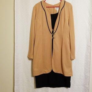 Vintage | Tan & Black Dress